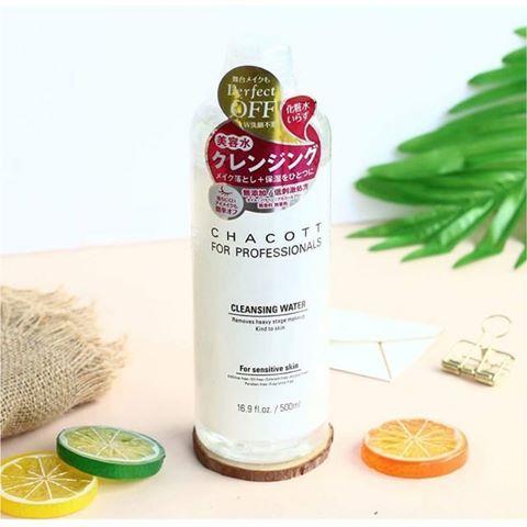 Nước Tẩy Trang Chacott For Professionals Cleansing Water 500ml Nhật Bản